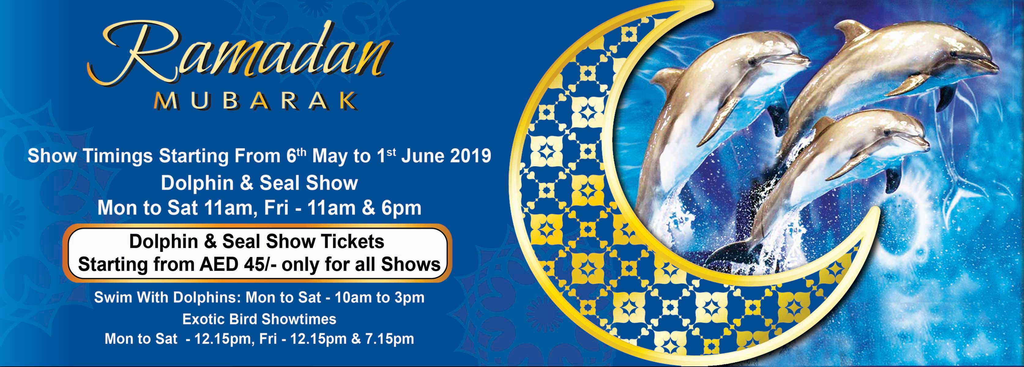 dolphin show ramadan timings